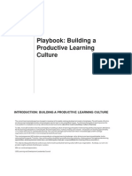 Building a Productive Learning Culture