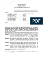Municipal Ordinance No. 01-2008