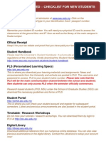 1. Getting Started Checklist for New Students