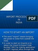Import Procedure