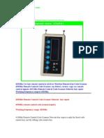 ALKcar 433Mhz Remote Control Scanner Remote Code Detector