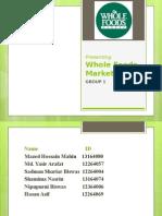 Whole Foods Market case analysis
