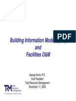 Impact of Bim on Facilities