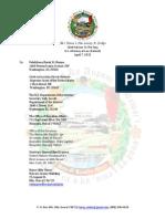 150407 Ali`i Mana`o Nui Cover Letter to President Obama