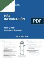 Manual de Instrucciones Auricular Bluetooth Plantronics M55
