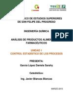 Unidad 1 Analisis de Productos Alimenticios y Farmaceuticos
