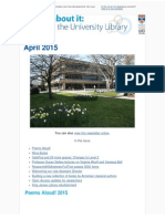 Library Newsletter April 2015
