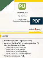 PLI Webinar Deck Septembe 2012
