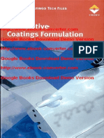 Automotive Coatings Formulation- Chemistry- Physics Und Practices by Ulrich Poth