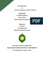 An Analysis of Financial Performance of BRAC Bank Ltd - Al Sukran
