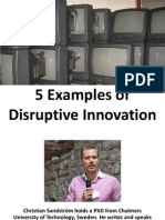Disruptive Innovation Egs