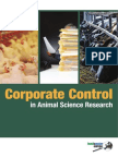 Food Water Europe Corporate Control in Animal Science Research
