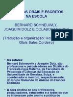 Dolz - Generos Orais e Escritos - Aula de 06-03-10