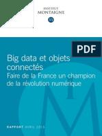 Rapport objets connectés et big data