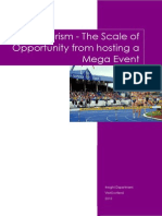 Sport Tourism - Scale of Opportunity From Hosting a Mega Event