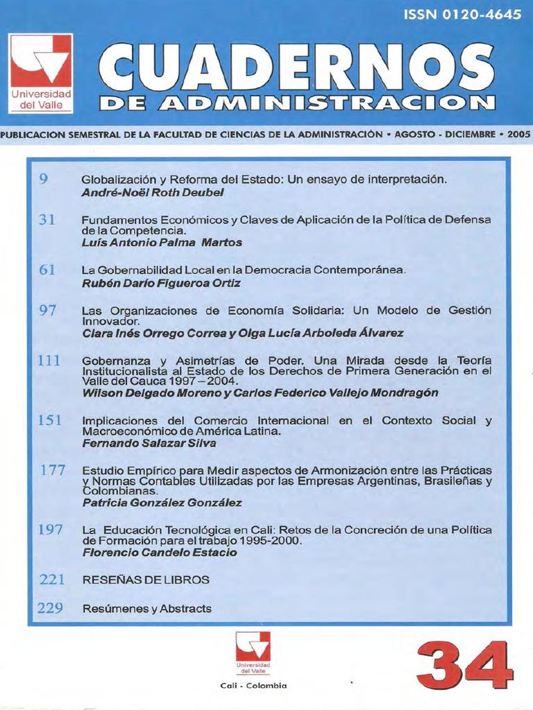 34-Cuadernos de Administracion (Diciembre-2005)
