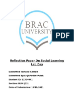 Reflection Paper on Social Learning Lab Day