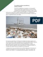 La Mayor Parte de Los Residuos Marinos Son Plásticos