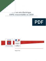 le rapport 100% énergies renouvelables