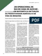 2012 Ed.77 - Capacidade Operacional de Colhedoras de Cana-de-Açúcar – Modelagem Matemática em Função da Produtividade Agrícola e da Vida da Máquina.pdf