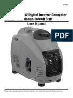 3500 Watt Inverter Generator