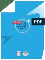 Présentation de la réforme du collège 2016