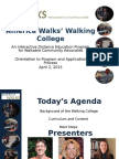 Walking College Orientation