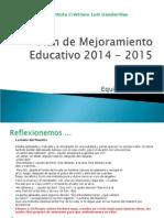 Plan de Mejoramiento Educativo 2014 - 2015