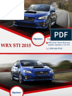 Subaru WRX STI 2015 à Québec - Un véhicule avec traction intégrale