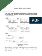 Analisis Dan Desain Filter Analog