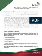 Manual Silhouette Calibracao