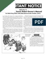 Newgy Robo Pong 1050 2050 Manual