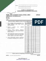 [spmsoalan]Soalan SPM 2014 Matematik Tambahan Kertas 1