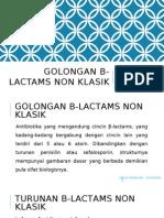 Golongan Β-Lactams Non Klasik