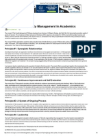 Applying Total Quality Management in Academics