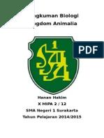 Rangkuman Biologi X Animalia Semester 2 K13