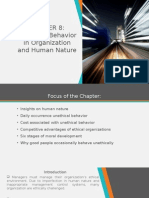 Chapter 8 Unethical Behavior in Organization and Human Nature