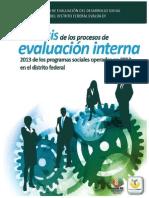 Análisis de Evaluaciones Internas del Distrito Federal 2013