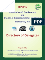ICPEP-5 (2015) Directory of Delegates Without Photos of Delegates