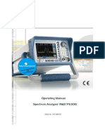 FS300 Spectrum Analyser User Manual