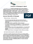 The Importance of Massage in Sport