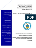 Federal Strategic Spectrum Plan 2008