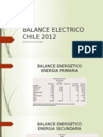 Balance Electrico Chile 2012