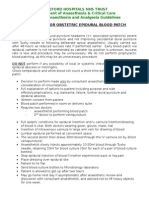 Guidelines for Obstetric Epidural Blood Patch NPS 5.4.06