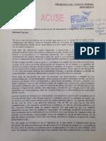 Carta del INE por caso Ayotzinapa