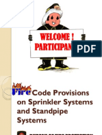 Fire Code Provisions on Sprinkler Systems and Standpipe Systems