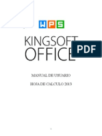 Manual de Usuario Kingsoft Hoja de Calculo 2013