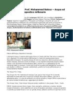 MEDCAM 2015 Prof. Mohammed Natour Acqua Ed Energia Uso Terapeutico Millenario