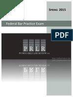 PRLR - Federal Bar Exam Spring 2015