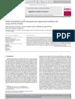 Applied Surface Science Volume 280 issue 2013 [doi 10.1016%2Fj.apsusc.2013.04.097] Arellano-Cárdenas, SofÃ-a; López-Cortez, Socorro; Cornej -- Study of malachite green adsorption by organically modi.pdf